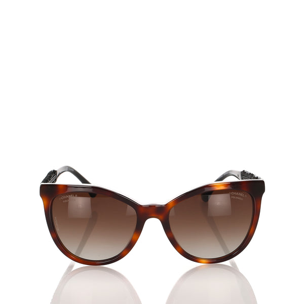 Brown Chanel Bijou Butterfly Tinted Sunglasses