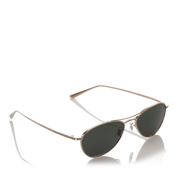 Black Oliver Peoples Aero LA Aviator Tinted Sunglasses