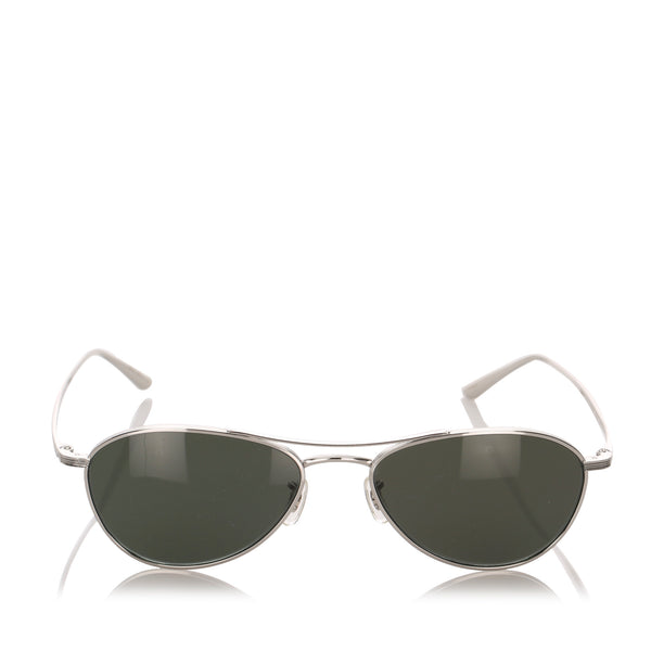 Green Oliver Peoples Aero LA Aviator Tinted Sunglasses