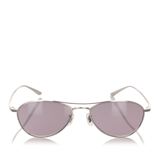 Pink Oliver Peoples Aero LA Aviator Tinted Sunglasses