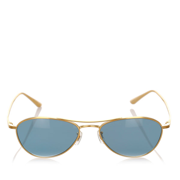 Blue Oliver Peoples Aero LA Aviator Tinted Sunglasses