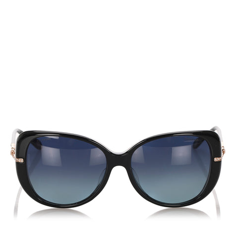 Black Tiffany & Co Butterfly Tinted Sunglasses