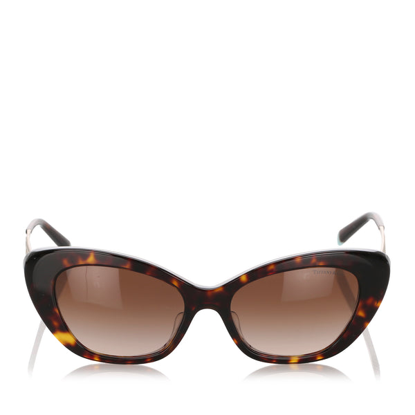 Brown Tiffany Cat Eye Tinted Sunglasses