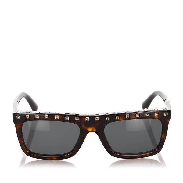 Brown Valentino Rockstud Tinted Sunglasses