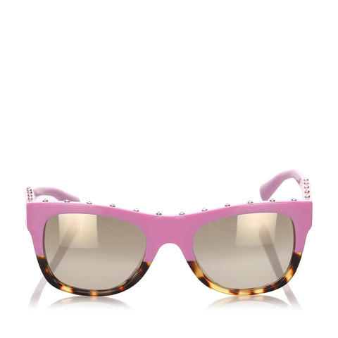 Pink Valentino Square Mirror Sunglasses