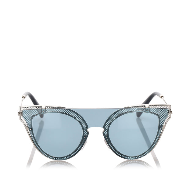 Blue Valentino Cat Eye Tinted Sunglasses