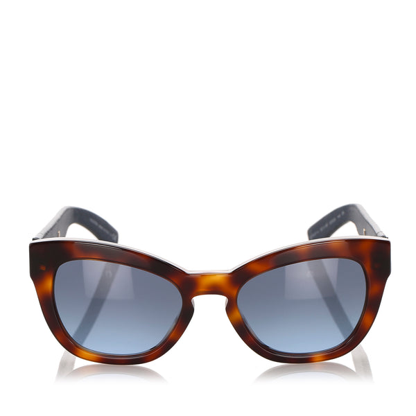 Brown Valentino Square Tinted Sunglasses