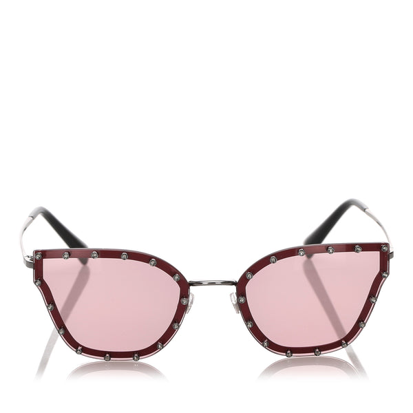 Red Valentino Crystal Embelished Square Sunglasses