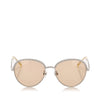 Silver Chanel Round Tinted Sunglasses