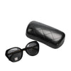 Black Chanel Cat Eye Tinted Sunglasses