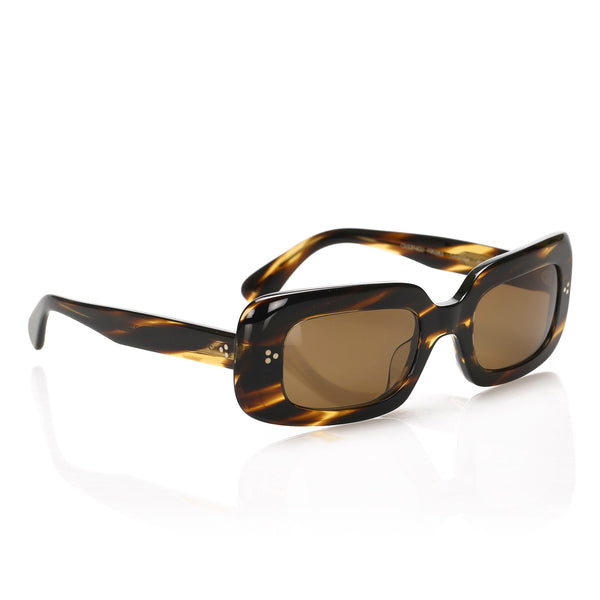 Brown Oliver Peoples Saurine Square Tinted Sunglasses