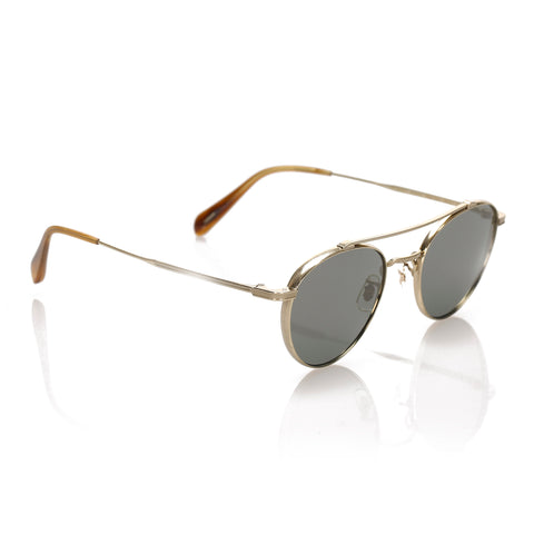 Blue Oliver Peoples Aviator Tinted Sunglasses