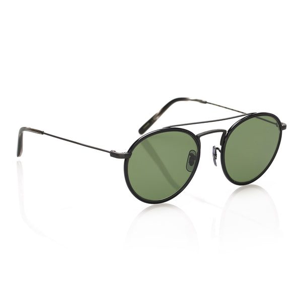 Black Oliver Peoples Round Tinted Sunglasses