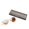 Brown Oliver Peoples Round Tinted Sunglasses