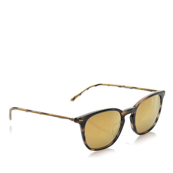 Brown Oliver Peoples Heaton Mirror Sunglasses