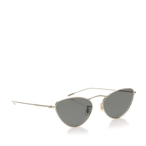 Black Oliver Peoples Cat Eye Tinted Sunglasses