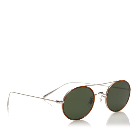 Green Oliver Peoples Shai Round Tinted Sunglasses