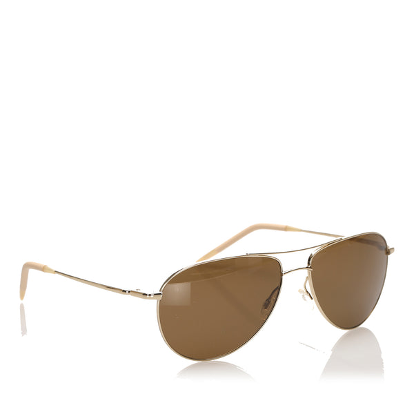 Brown Oliver Peoples Benedict Tinted Sunglasses