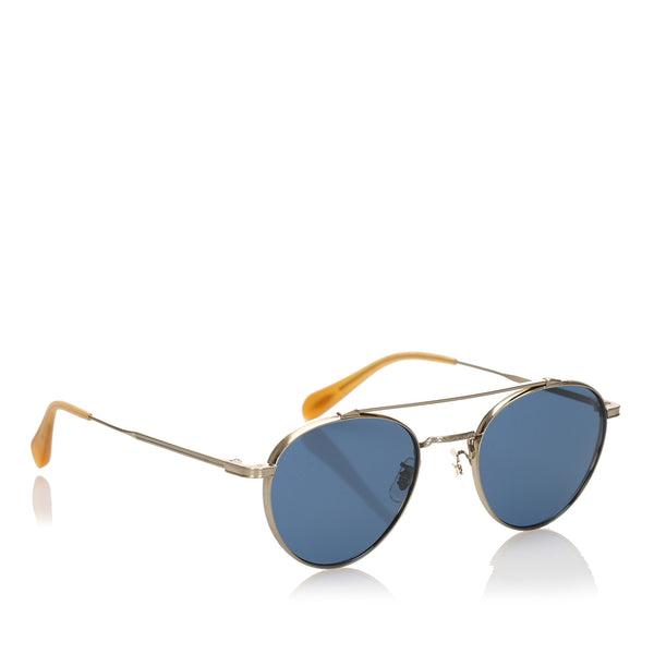 Blue Oliver Peoples Watts Sun Tinted Sunglasses