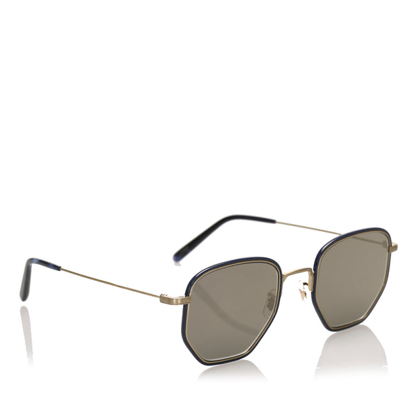 Black Oliver Peoples Alland Round Tinted Sunglasses