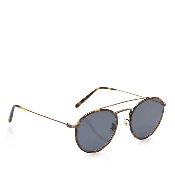 Blue Oliver Peoples Shai Round Tinted Sunglasses