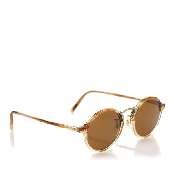 Brown Oliver Peoples Kosa Round Tinted Sunglasses