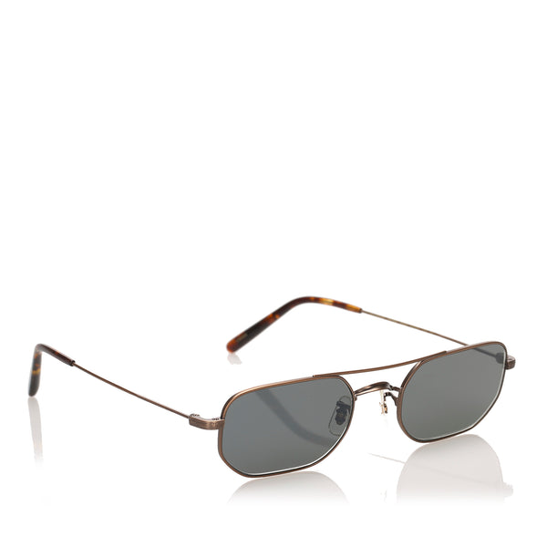 Black Oliver Peoples Indio Round Tinted Sunglasses