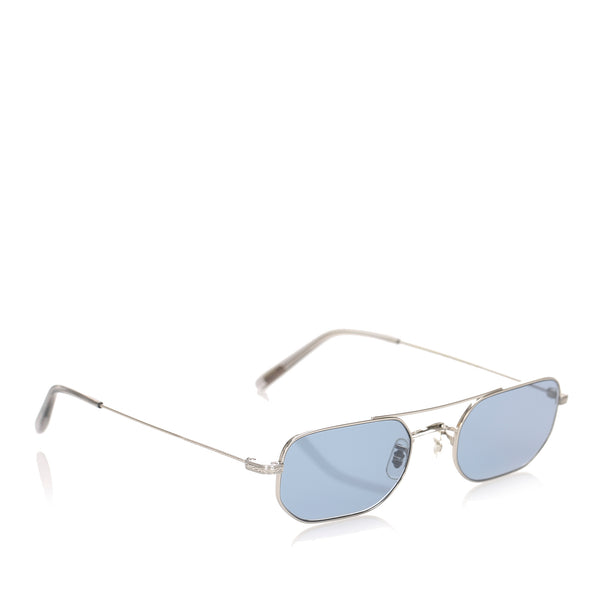 Blue Oliver Peoples Indio Round Tinted Sunglasses