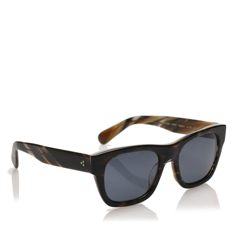 Blue Oliver Peoples Keenan Square Tinted Sunglasses