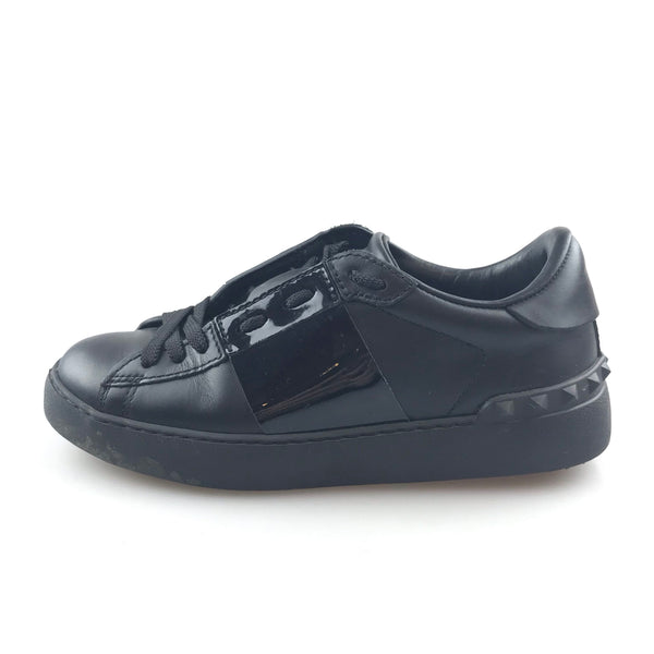 Black Valentino Leather Untitled Open Sneaker