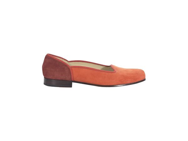 Orange Stubbs & Wootton Suede Loafers