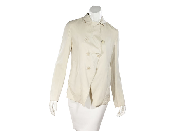 Cream Brunello Cucinelli Lightweight Silk Jacket