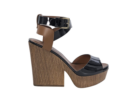 Black & Brown Sergio Rossi Leather Sandals