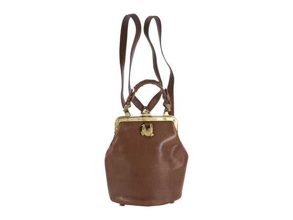Brown Keiselstein-Cord Convertible Leather Bag