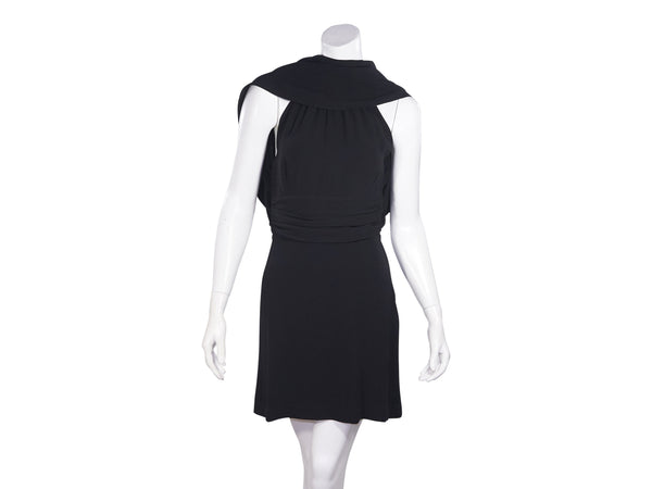 Black Fendi Silk Convertible Silk Mini Dress