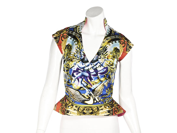 Multicolor Manish Arora Printed Silk Blouse