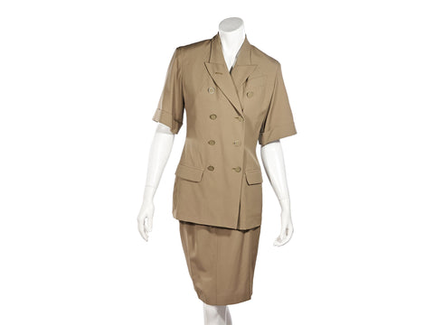 Tan Jean Paul Gaultier Femme Skirt Suit Set