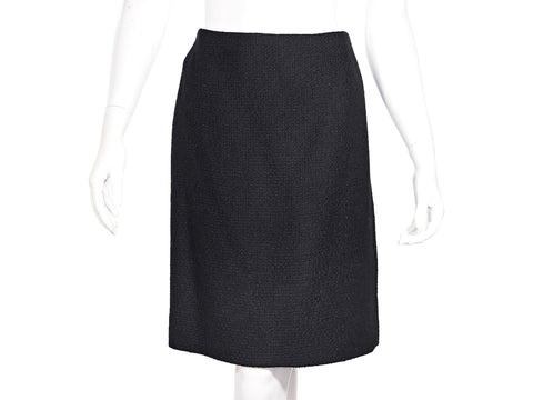 Black Vintage Chanel Creations Bouclé Mini Skirt