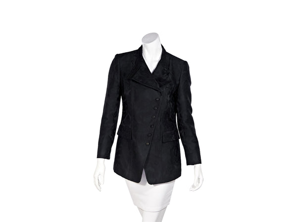 Black Gucci Brocade Wool-Blend Jacket