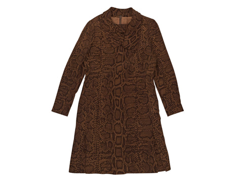 Brown Givenchy Haute Couture Printed Dress