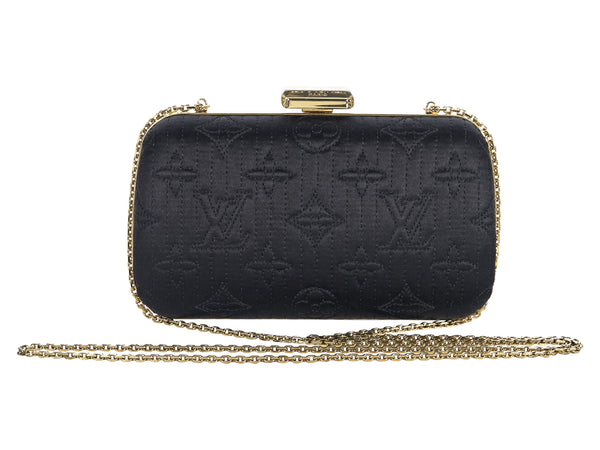 Black Louis Vuitton Monogram Satin Clutch