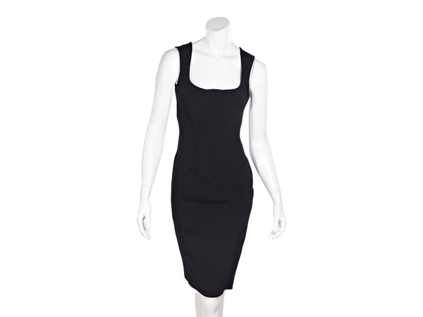 Black D&G Sleeveless Bustier Dress