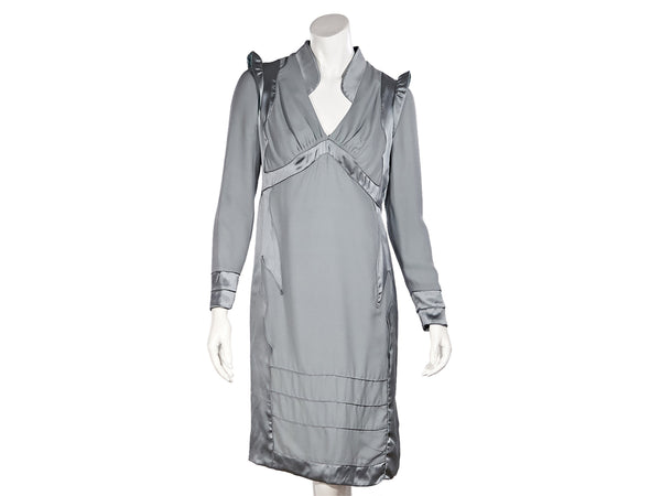 Grey Fall/Winter 2004 Tom Ford For Yves Saint Laurent Silk Pagoda Dress