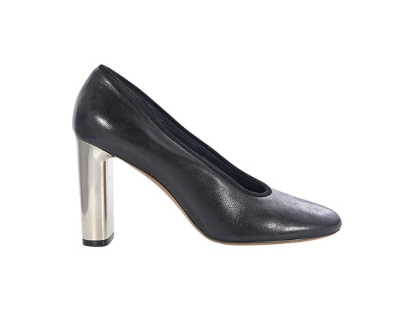 Black Celine Leather Pumps