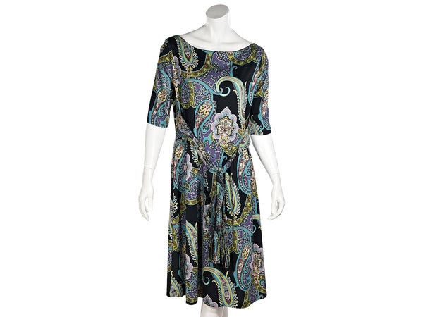 Multicolor Etro Paisley-Printed Cotton Dress
