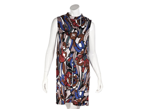 Multicolor Marni Floral-Printed Shift Dress