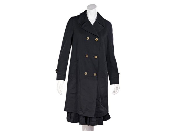 Black Comme des Garcon Double-Breasted Coat