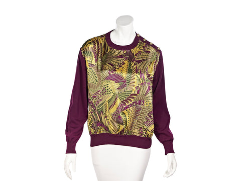 Multicolor Salvatore Ferragamo Silk-Printed Sweater