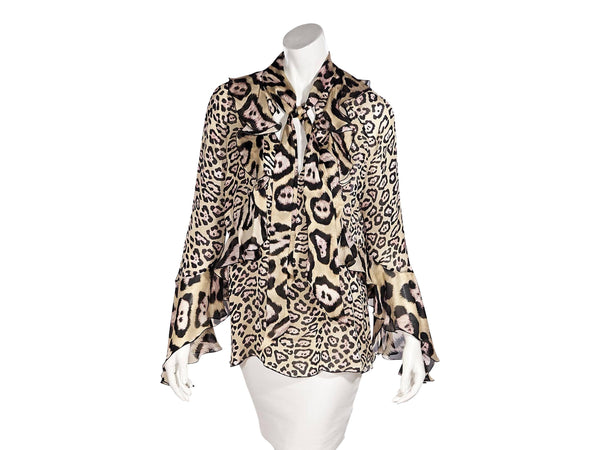 Multicolor Givenchy Cheetah Silk Blouse