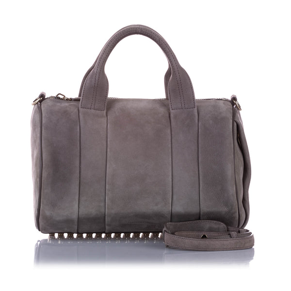 Gray Alexander Wang Rockie Leather Satchel Bag